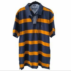Tommy Hilfiger Men's Striped Polo Shirt large